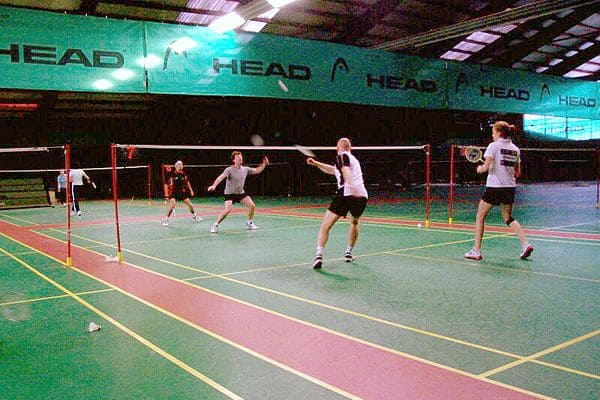 Badminton in der Halle